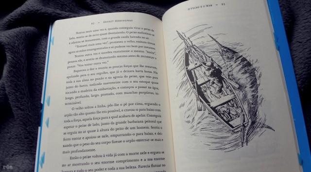 Ilustrações do livro O Velho e o Mar